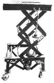Pont à colonne avec roulettes