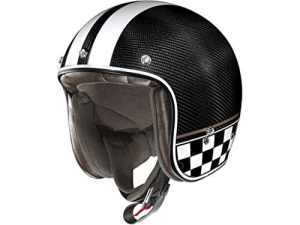 X-lite x-201uc Willow Springs Ultra Carbon Casque jet Moto N-COM – Carbon Blanc