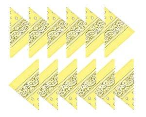 BOOLAVARD Coton, 1er 6 ou 12 Pack Bandanas avec motif Paisley original   Couleur au choix (12 Jaune)