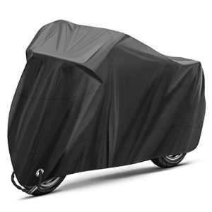 INTEY Housse de Protection pour Moto, Couverture de moto, Noir
