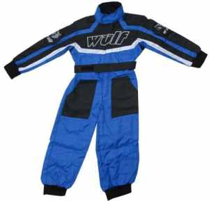 Wulfsport Wulf Cub Combinaison de pilote pour enfant – bleu – Junior Large 9-10 Years