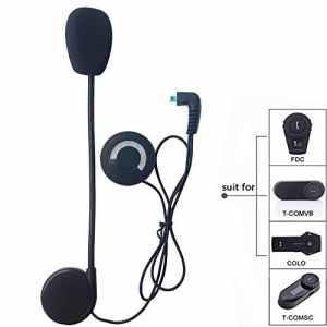 FreedConn Casque de Moto Helmet Oreillette, Moto Intercom Oreillette Bluetooth Plug Casque de Moto Interphone, FDCVB (Microphone)