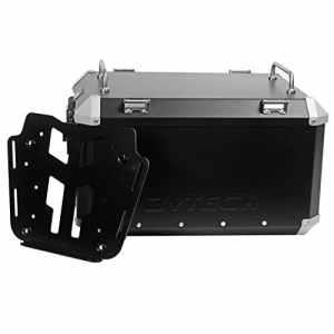 Mytech–Kit Top Case–55litres noir et plaque de fixation pour Honda x-adv pour porte-bagages d'origine honda