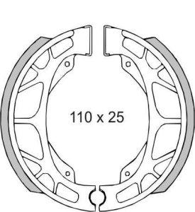 RMS mâchoires de frein arrière aPRILIA scarabeo-sr 50cc (Frein à Tambour et mâchoires)/Rear Brake Shoes aprilia scarabeo-sr 50cc (brake Drum And Clamping Jaws)