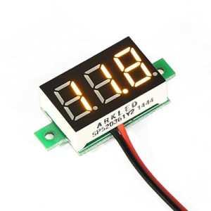 DEOK 0,36 «Mini 3,00 ~ 30,0V DC Panneau Voltmètre Moto Voltmètre Numérique LED Jaune Jauge de Tension
