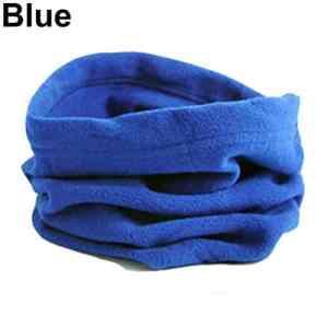 Geshiglobal Polaire Cache-cou Guêtre de sports d'hiver Masque Chapeau Snood Écharpe, bleu