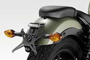 Honda cmx500Rebel 2017–Kit plaque d'immatriculation–Support de Plaque d'immatriculation–inclinaison réglable–incluse lumière plaque d'immatriculation LED facile Installation–Noir mat–Accessoires de Pretto moto (DPM)–100% fabriqué en Italie