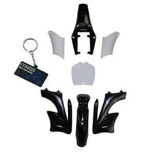 Stoneder Noir 7pièces haute résistance Plastique Fender Carénage Kits de corps pour chinois 2temps 47cc 49cc Apollo Orion Mini Dirt bike