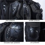 Veste Armure Moto Blouson Motard Gilet Protection Équipement de Moto Cross Scooter VTT Enduro Homme ou Femme Noir L