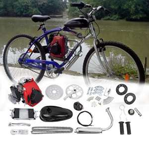 Ambienceo 49 cc 4 temps Cycle Pedal Moteur à essence Gas Kit Moto Vélo Kit de conversion pour vélo motorisé
