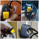 Frenshion 5 Pièces Moto Commutateur on Off Guidon Réglable Mont Commutateur Vert Bleu Jaune Rouge Gris Bouton DC12V Fit Antibrouillard U5 U7 LED Lampe Spot