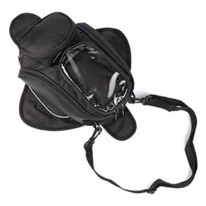 GES Magnetic Motorcycle Moto Combustible Sac à main Moto Sac imperméable Oxford Saddle Black Motorbike Pack