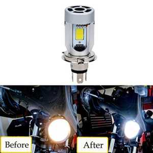 SUPAREE H4 Ampoule Phare à Moto, 20W 2000LM Moteur LED ampoules à Phare H4 High/Low Beam COB Moped Scooter Moto Lampe frontale (1 pièce)