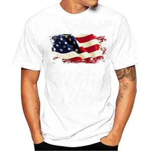 T-shirt Hommes, Yesmile Chemise à Manches Courtes Men Printing Tees Shirt T Shirt Blouse (s, Blanc)