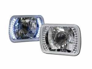 Universel Chrome 7x 6LED Blanc DRL Sealed Beam Vidéoprojecteur Tête lumières lampe H4CA1