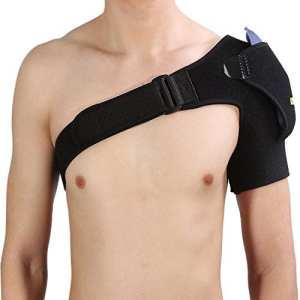 Yosoo Épaulette de soutien d'épaule, respirant réglable Bandoulière de protection de ceinture d'épaule Bandage de sport Prévention des blessures articulaires Douleur d'entorse et tendinite, Compatible
