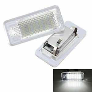 2 ampoules LED 6000K 18 blanches KATURK pour plaque d'immatriculation d'Audi A3S3A4S4B6B7A6S6A8Q7