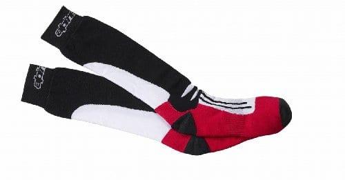 Alpinestars – chaussettes – RACING ROAD SOCKS – Couleur : Noir/Rouge – Taille : L/XL