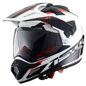 Astone Helmets ADVWBL Casque Tourer Adventure, Blanc/Noir, L