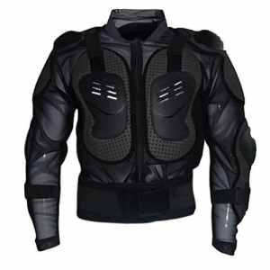 Dexinx Armure Blouson Moto Motocross Cyclisme de Montagne Patinage Snowboard Protecteur du Corps Noir XL