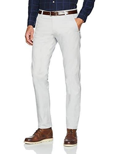 Dockers Alpha Original Khaki Slim Tapered-Stretch Twill, Pantalon Homme, Gris (Quiet Gray 0716), W36/L32 (Taille Fabricant: 36/32)
