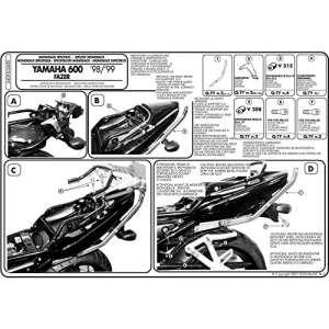 Givi telaietto posteriore monorack Yamaha Fazer 60000