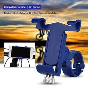 Haofy Le support réglable de téléphone de guidon de vélo d'alliage d'aluminium tient le support de support de Smartphone(Bleu)