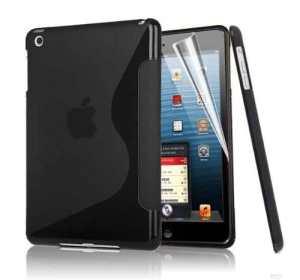 Juste valeur S Line Cover d'Apple IPAD Air vague de gel de silicone pour Apple iPad AIR NOIR