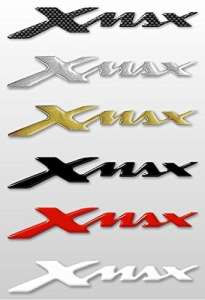 Labelbike Lot de 2autocollants/stickers en résine 3D, inscription Xmax, accessoires pour scooter Yamaha X Max or