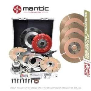 Mantic Track Premium kit d'embrayage Convient GM–Mantic Aluminium billet Cover Assembly   Triple Cerametallic d'embrayage avec allemand conçus et fabriqués en matériau de friction, pas de coussin–Réduit Driveability, Plus adaptée pour suivre l'utilisation   concentrique esclave Cylindre   billet usiné solide de masse volant d'inertie (SMF) avec boulons kit   Embrayage alignement Outil (M932202)