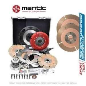 Mantic Track Premium kit d'embrayage Convient GM–Mantic Aluminium billet Cover Assembly | Twin Cerametallic d'embrayage avec matériau de friction, fabriqué en Allemagne Non-sprung–Plus adaptée pour suivre l'utilisation | Release Roulement | billet usiné solide de masse volant d'inertie (SMF) avec boulons kit | Embrayage alignement Outil (M922207)