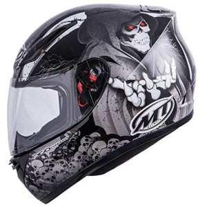 MT Revenge Reaper casque de moto–Noir/Gris–Petit