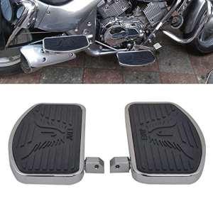 Paire de Repose-pieds Moto Harley Pédales de frein pour Honda Yamaha Dragstar etc – Noir