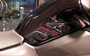 2Protections genoux latérales réservoir 3d compatibles pour moto Kawasaki Z900rouges
