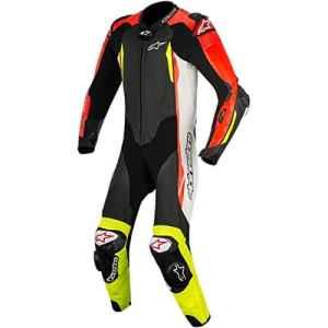 Combi en cuir Alpinestars GP Tech V21pc einteiler Black/White, Black/White/Red/Yellow, 52
