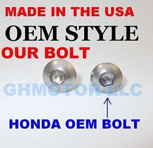 Ghmotor Boulons et rondelles OEM Style Carénage Boulons Attaches Vis kit Ensemble Made in USA pour 199899002001VFR 800Argent