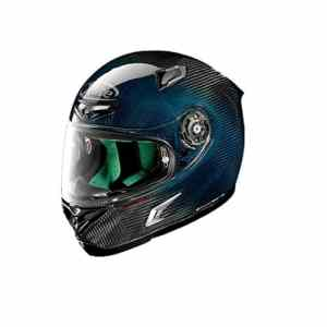 GHQZ Pilote De Ski De Fond X-Lite X-802 Super Carbon Moto Casque Locomotive Racing Casque (Bleu)