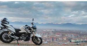 Hemore Support de Plaque de Support de béquille latérale pour Moto J001 Cobalt Blue