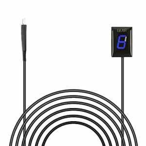 Indicateur de Vitesse étanche pour Moto Affichage LED Plug & Play pour Honda (Bleu)
