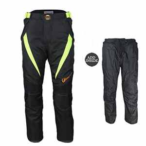 LKN Unisexe école de moto de protection Pantalon d'été à ressort pour homme avec doublure amovible étanche