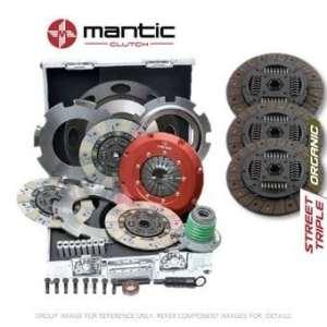 Mantic Track Premium kit d'embrayage Convient GM–Mantic Aluminium billet Cover Assembly | Triple d'embrayage Bio | Release Roulement | billet usiné solide de masse volant d'inertie (SMF) avec boulons kit | Embrayage alignement Outil (M934207)