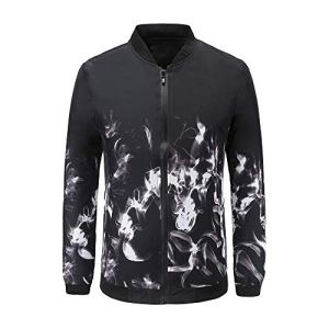 OSYARD Sweat-Shirt Homme Slim Fit Blouse No Hooded Coton Impression Chemise Style Zip Sport Suit