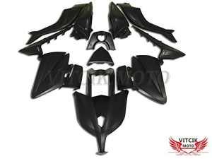 VITCIK (Kits de Carénage fixation Yamaha TMAX530 2012 2013 2014 TMAX 530 12 13 14) Moule pour injection de plastique ABS Parties cycle de motos complètes Pièces détachées de Cadres du marché des pièces détachées Accessoires(Noir) A009