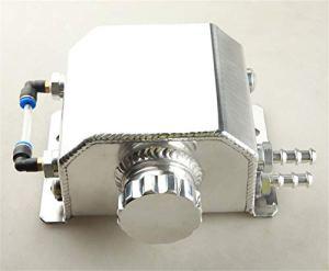 Adlerspeed 1L liquide de refroidissement Radiateur trop-plein Réservoir d'eau de restauration Bouteille en aluminium poli