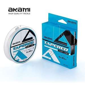 AKAMI Tapered Surf Line 0.20–0.62mm 5x 15MT terminale Conique Chocs Leader Clear