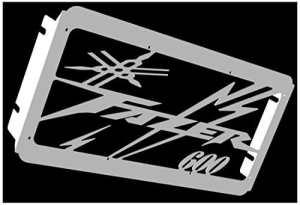 cache radiateur/grille de radiateur Yamaha 600 FZS Fazer 98>01 et 02>03 design «Eclair»