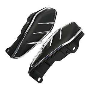 CICMOD Moto Déflecteurs, Pare-brise Bas déflecteurs d'Air Latéraux Thermique Déflecteurs d'Air à l'Ecart Chaleur pour Harley Touring FL Electra Street Road Glide 2009–2017