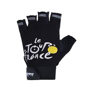 Gant AntidéRapage Antichoc Demi-Doigts Gants Demi-Doigts Mitaines Chaudes Confortable VéLo Moto Escalade Sport Hiver Gloves– Taille : 15 X 9 cm (Noir)