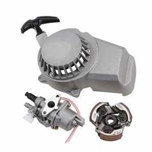 Goofit Carburateur 13mm avec démarreur à cordon et raccord pour moteur 2temps 47cm3 & 49cm3 pour motocross Pocket Bike