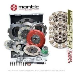 Mantic Track Premium kit d'embrayage Convient GM–Mantic Aluminium billet Cover Assembly | Triple Cerametallic d'embrayage, sans coussin, non à ressorts–Track utiliser uniquement | Release Roulement | billet usiné solide de masse volant d'inertie (SMF) avec boulons kit | Embrayage alignement Outil (M933207)
